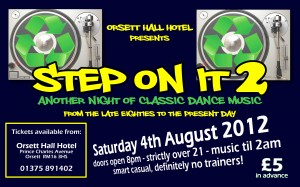 Step On It II - Orsett Hall - 4th August 2012