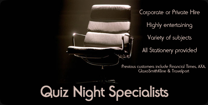 Quiz Night Specialists for Corporate & Private Customers